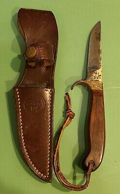 Vintage Olsen Ok HC Mi Hunting Knife Very Nice Condition with Sheath
