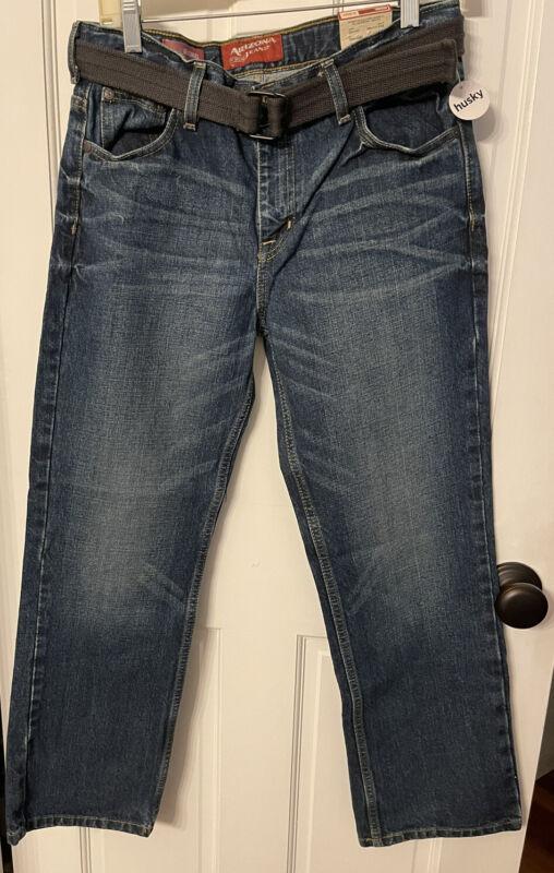 ARIZONA JEAN CO.~Original Denim Jeans kids (JCP) Flex straight Sz 14 Husky New