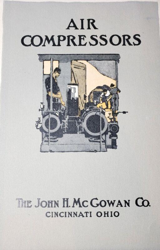 Antique Orig John McGowan Co. Cincinnati OH Air Compressors Advertisement Print