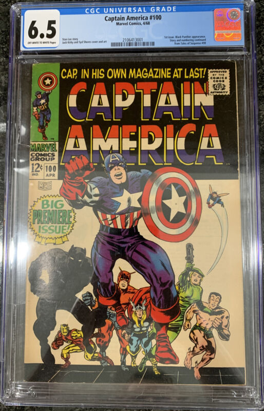 captain america 100 cgc 6.5