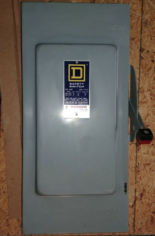 Square D Fusible Safety Switch H-363 100A, 600VAC, Indoor, 3 Phase