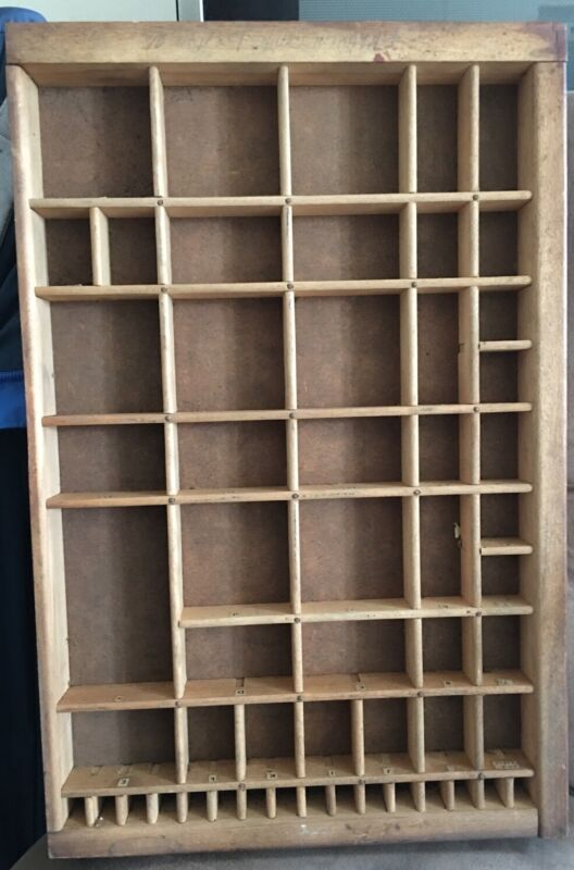 PRINTERS TYPE CASE Or DRAWER Section Typecase Letterpress