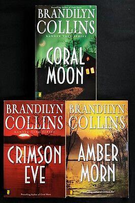 Lot Of 3 Brandilyn Collins Books - Kanner Lake 2-4 Amber Crimson Eve Coral Moon