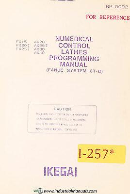 Ikegai Fx And Ax Nc Control Lathes Programming Manual