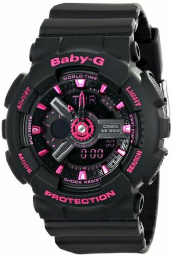 Casio Women's BA-111-1ACR Baby-G Analog-Digital Display Quar
