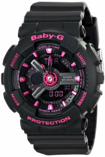 Casio Women's BA-111-1ACR Baby-G Analog-Digital Display Quar