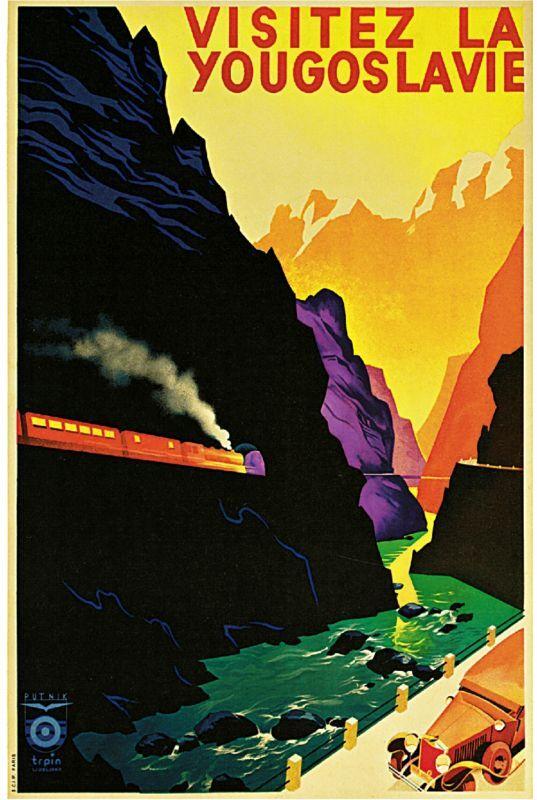 1938 Yugoslavia Art Travel Europe European Advertisement Vintage Poster Print