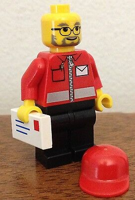 Lego City Minifigure   Post Office Mail Carrier  From Set  7731