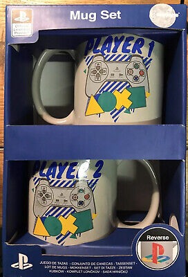 Playstation Offical 2 X Mugs Cups Gift Set Player 1 Player 2 New Paladone Player Gift Set