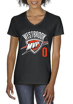 Women's V-Neck BLACK Russell Westbrook Oklahoma City