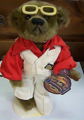"""Brass Button Bears""""Nick"""" 1970's Version Collectible Bear w/ Stand 092612JBe2"""