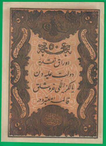 Turkey Ottoman Empire 50 kurush 1861, P37, UNC with minor flaws!