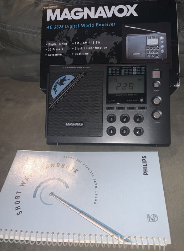 MAGNAVOX AE3625 World Receiver AM/FM SW World Receiver 13 bands 20 presets