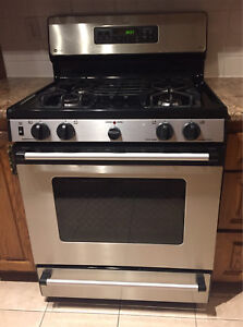 GE Profile gas range and oven