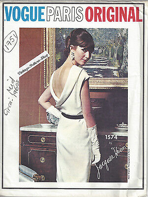 1960s Vintage VOGUE Sewing Pattern B34 DRESS (1751) By JACQUES HEIM