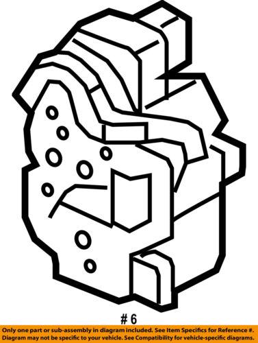 Gm Oem Front Door Lock Actuator Motor 13579522