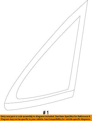 FORD OEM 11-16 Fiesta-Rear Quarter Panel Side Window Glass Left BE8Z5829711C