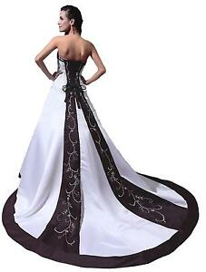 Black and white dress dresses ebay black and white wedding dresses junglespirit Images