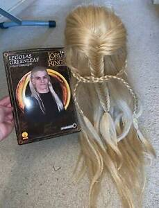 Lord Of The Rings LOTR Leoglas Blonde Wig Cosplay Costume Fancy Dress