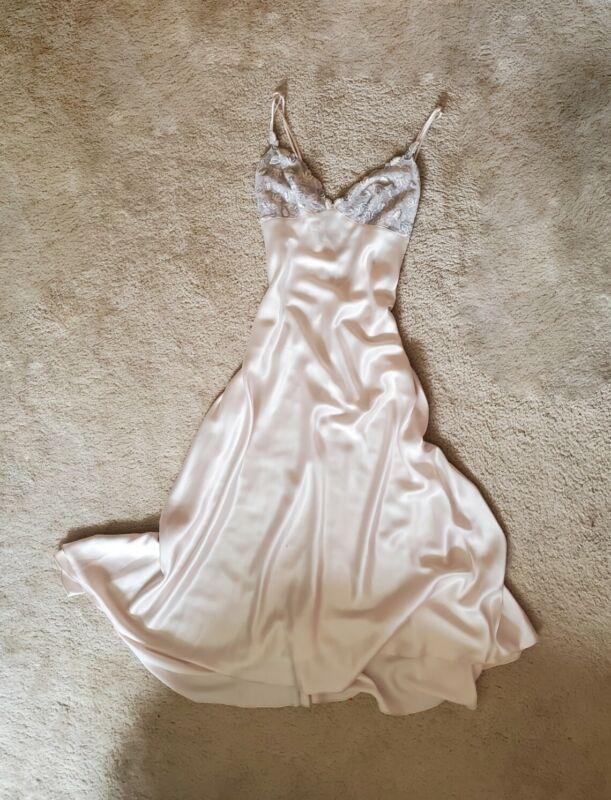 Vintage Neiman Marcus Satin Slip Gown (Large)