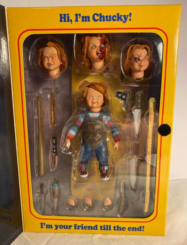 "AUTHENTIC REAL NEW ULTIMATE CHUCKY Good Guys NECA CHILDS PLAY 4"" ACTION FIGURE"