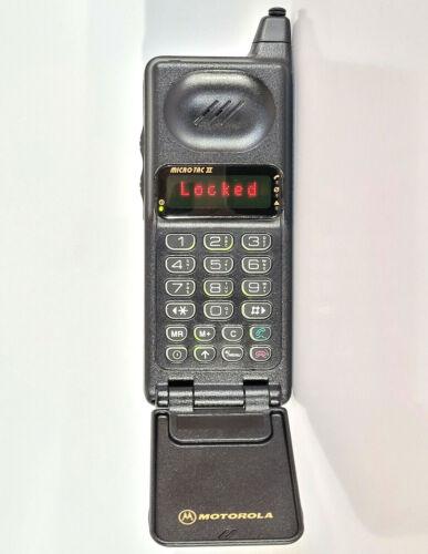 MOTOROLA MICROTAC II BXD - BRICK CELL PHONE MOBILE TELEPHONE VINTAGE RETRO FLIP