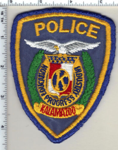 Kalamazoo Police (Michigan) Uniform Take-Off Shoulder Patch from the 1980