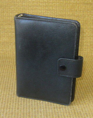 Compactpersonal 1 Rings Black Leather Microfile Open Plannerbinder England