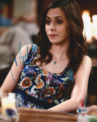 CRISTIN MILIOTI SIGNED 8X10 PHOTO HOW I MET YOUR MOTHER BECKETT BAS AUTOGRAPH