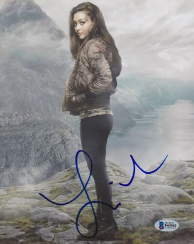 LINDSEY MORGAN SIGNED 8X10 PHOTO THE 100 BECKETT BAS AUTOGRAPH AUTO COA A