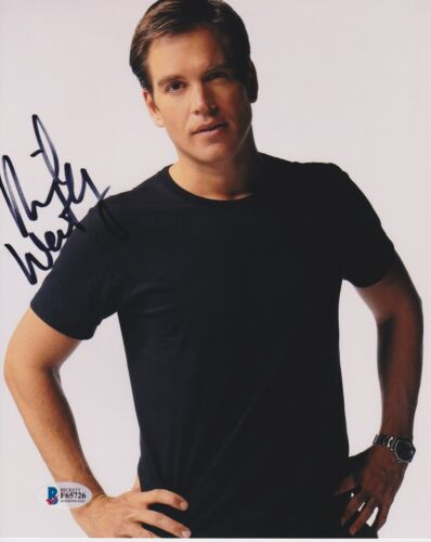 MICHAEL WEATHERLY SIGNED 8X10 PHOTO BULL NCIS BECKETT BAS AUTOGRAPH AUTO COA A