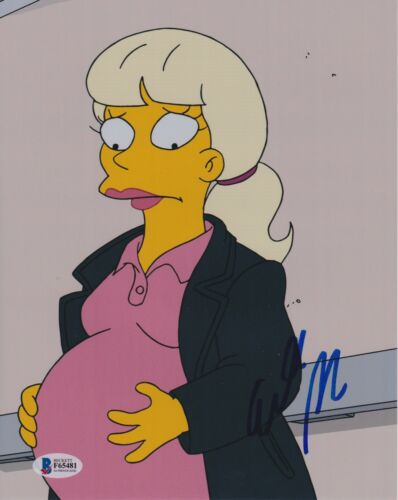 ELISABETH MOSS SIGNED 8X10 PHOTO THE SIMPSONS BECKETT BAS AUTOGRAPH AUTO COA A