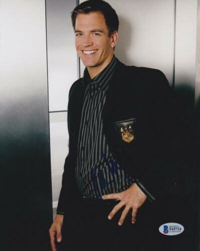 MICHAEL WEATHERLY SIGNED 8X10 PHOTO BULL NCIS BECKETT BAS AUTOGRAPH AUTO COA C
