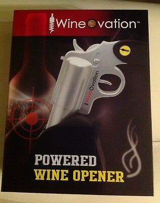 WineOvation Powered Wine Opener (Silver) with charger & accessories - NEW