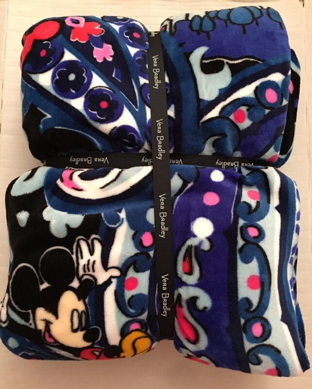 NWT Vera Bradley x Disney Mickey Mouse Whimsical Paisley Plush Blanket Throw