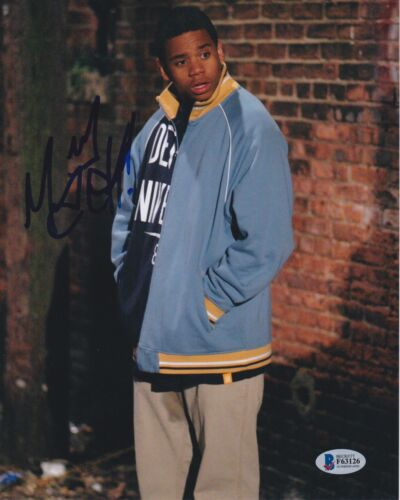 TRISTAN MACK WILDS SIGNED 8X10 PHOTO THE WIRE BECKETT BAS AUTOGRAPH AUTO COA B