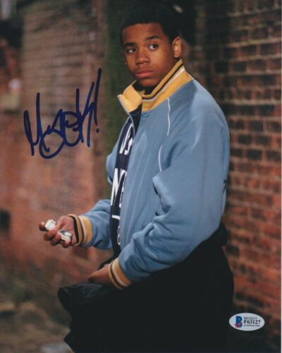 TRISTAN MACK WILDS SIGNED 8X10 PHOTO THE WIRE BECKETT BAS AUTOGRAPH AUTO COA A