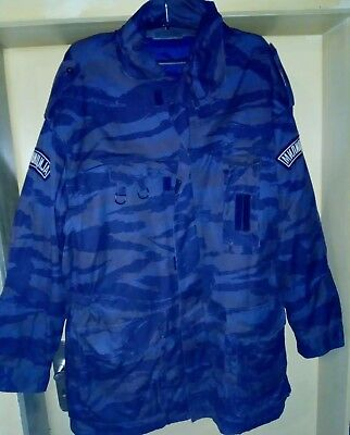 Krajina Police - JNA - Blue Tigerstripe Jaket - Original - Serbia - size:XL Original Tiger Stripe