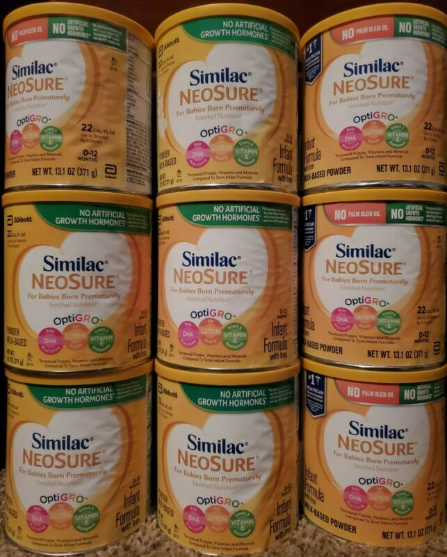9 CANS of SIMILAC NEOSURE /13.1 oz each