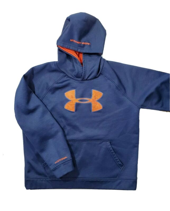 Under Armour X Storm boys Pullover Hoodie Sweatshirt YOUTH XL blue