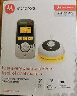 Motorola MBP161TIMER Digital Audio Baby Monitor with Baby Care Timer