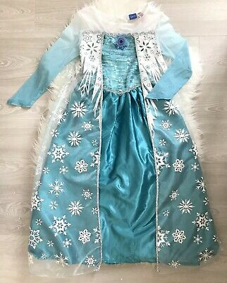 Frozen Elsa Costume Disney Store Princess Fancy Dress Outfit Age 9-10 Years