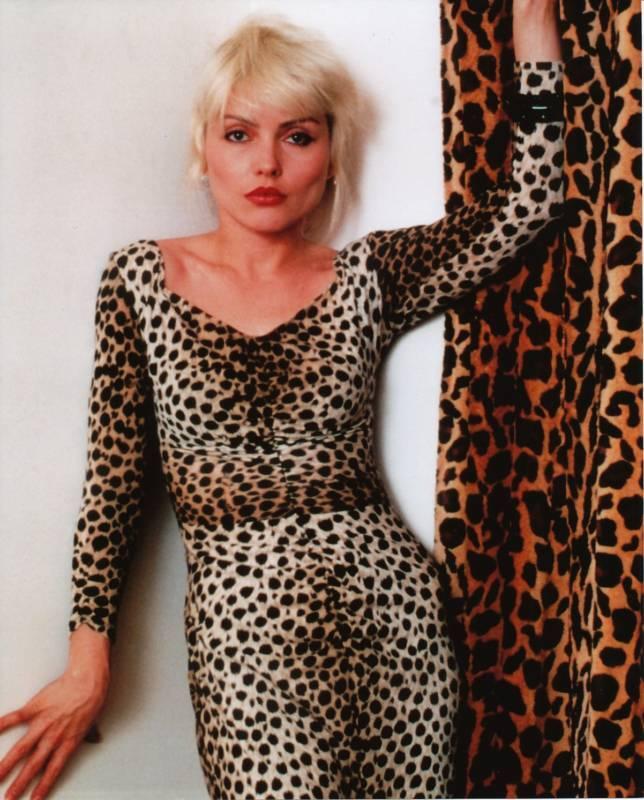 Debbie Deborah Harry Blondie Leopard Print 8x10 Photo