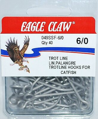 100 size 6 eagle claw Seguard Red OCTOPUS BEAK HOOKS Made in USA