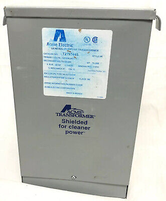 Acme Electric General Purpose Transformer T29744s New Open Box Industrial