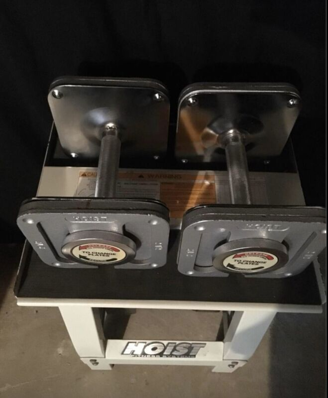 Hoist Quik-Change Adjustable Dumbbell Set 75lb each Ironmaster 1st Gen Design