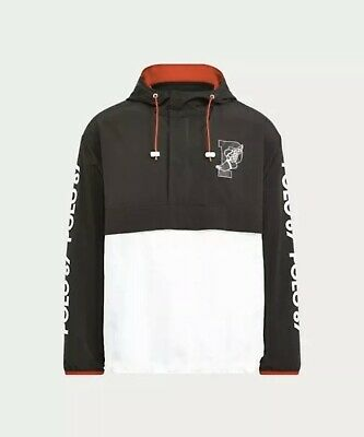 Polo Ralph Lauren 67 P-Wing Stadium 1992 Black White Jacket Size Large NWT Rare