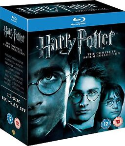 HARRY POTTER COMPLETE 8-FILM COLLECTION BLU-RAY 11-DISC BOX SET REGION-FREE NEW