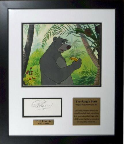 Jungle Book Production cel Baloo 1967 Art Corner Autograph Voice Phil Harris
