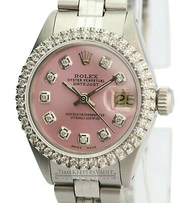 Rolex  Lady Datejust 26mm Ice Pink  Diamond Dial Diamond Bezel  Approx 1.40CTW